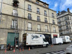 3ème étage sans ascenseur à Nantes, Monte-Meubles